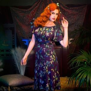 PINUP COUTURE Butterfly Dress in Moth Print